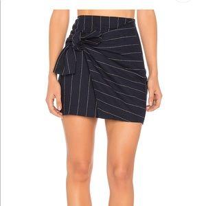 Tie Front Mini Skirt - Large